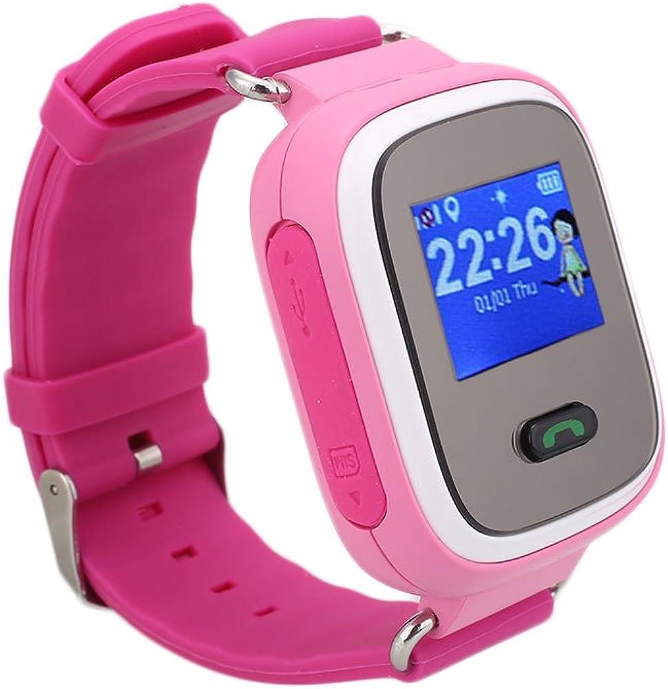 Rosepoem Rastreador GPS de los niños SmartWatch Reloj inteligente para Niños Anti-Perdida Sos tarjeta SIM de reloj Control de Padres Por Smartphone reloj inteligente Q60 Perseguidor de la localización