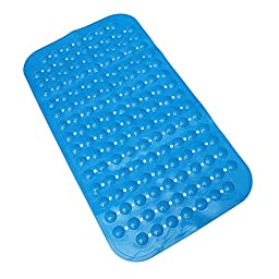 NBellShop Strong Suction Anti Slip Shower Mat Bath Bathroom Foot Massage, Blue
