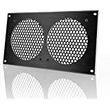 AC Infinity Ventilation Grill, for PC Computer AV Electronic Cabinets, also mounts two 120mm Fans