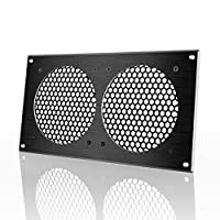 AC Infinity Ventilation Grill for PC Computer AV Electronic Cabinets also mounts two 120mm Fans
