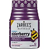 Zarbee's Naturals Children's Elderberry Immune Support Gummies with Vitamin C, Zinc, Natural Berry Flavor, (Gummies, 84 Count)