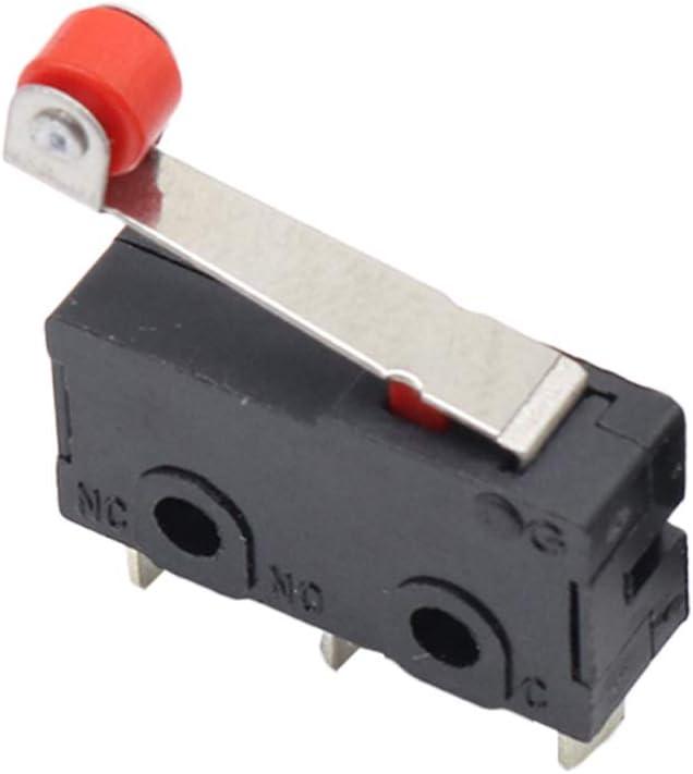 Fornateu 20pcs Fin de Course Rouleau Mini Micro commutateur routeur CNC Limit Levier Imprimante 3D Bras commutateur KW12
