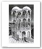 Belvedere by M.C. Escher Art Print Poster