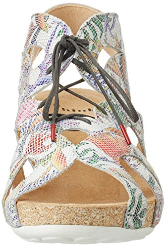 Think Heels white Multicoloured Closed kombi 97 Toe Off bianco Women's Traudi rp6aqSfr