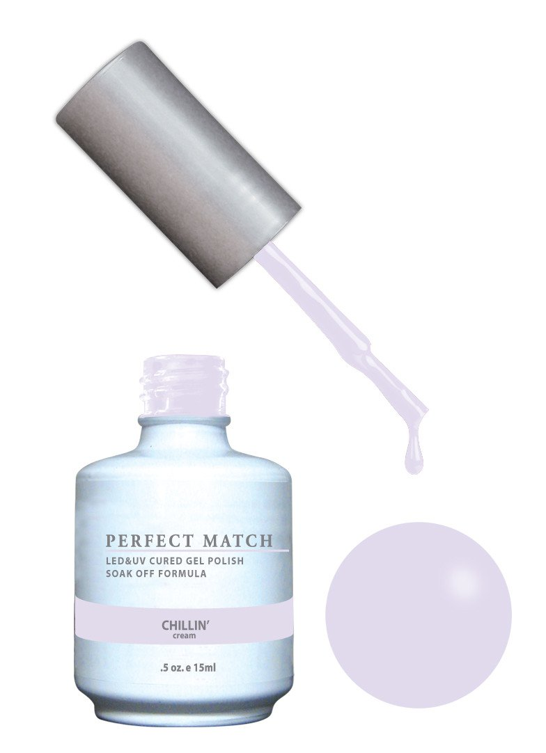 Amazon.com : LECHAT Perfect Match Gel Polish, Chillin\', 0.5 Ounce ...