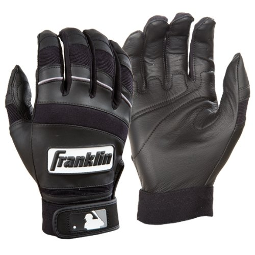 Franklin Sports Youth Player Classic II Batting Gloves, Pair, Black - Medium