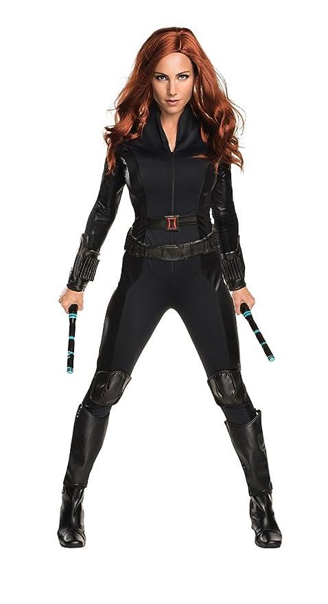 Secret Wishes Women's Captain America: Civil War Widow Costume, Black, Small