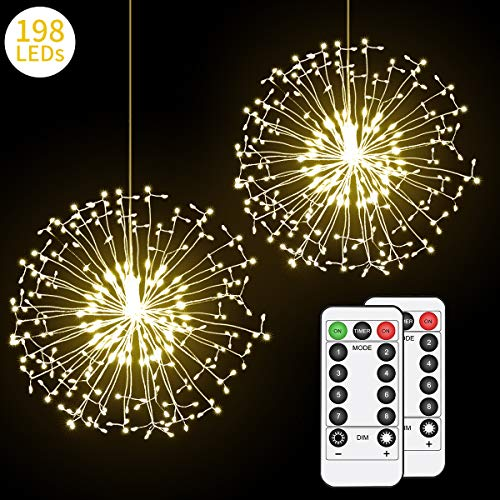 (Hohoto Firework Lights, LED Fairy Lights, 2 Pack of DIY Led Light for Christmas, Home, Patio, Indoor and Outdoor as A Decoration (198)