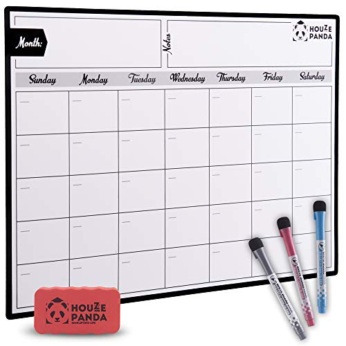 Magnetic Dry Erase Calendar for Refrigerator 2019 - Monthly Planner White Board for Family - 3 Fine Tip Markers & Large Eraser with Magnets - Organizer for Kitchen Fridge - Big Cute Magnet Whiteboard Photo #6