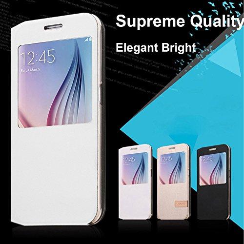 Kollea Big Window Case W Stand for Samsung Galaxy S6 - White