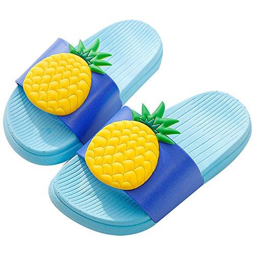 ach Slides Slippers Sandals Women Men 7/7.5 US Women/Label Size 40/41 Blue-Pineapple ()
