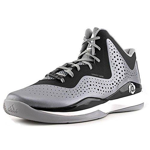 Adidas D Rose 773 III Herren Basketballschuh Aluminium-schwarz-weiß