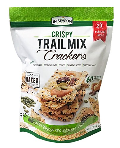Premium Crispy Trail Mix Crackers 20Packs Pack 8.2oz