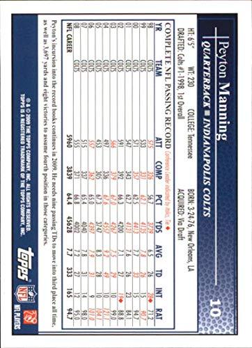 2009 Topps #10 Peyton Manning Indianapolis Colts
