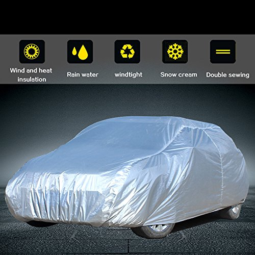 """cciyu Car Cover Waterproof Polyester Universal fit Cars Up to 190"""" All Weather Production by CCIYU"""
