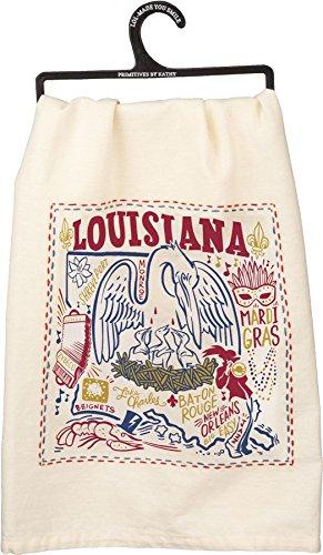 Primitive by Kathy State Dish Towel (Louisiana)