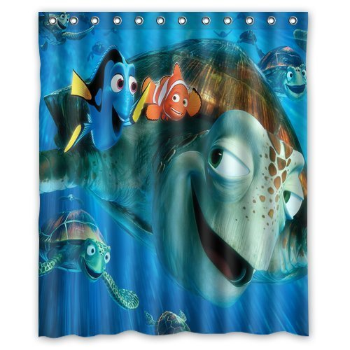Mirryderr Scottshop Custom Finding NEMO Shower Curtain Waterproof Polyester Fabric Bathroom Shower Curtains