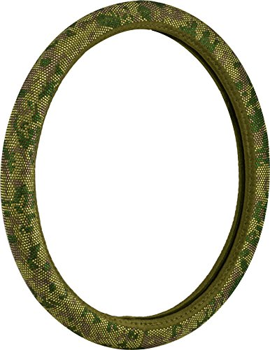 Bell Automotive 22-1-97221-9 Universal Studded Gem Hyper-Flex Core Steering Wheel Cover, Camo