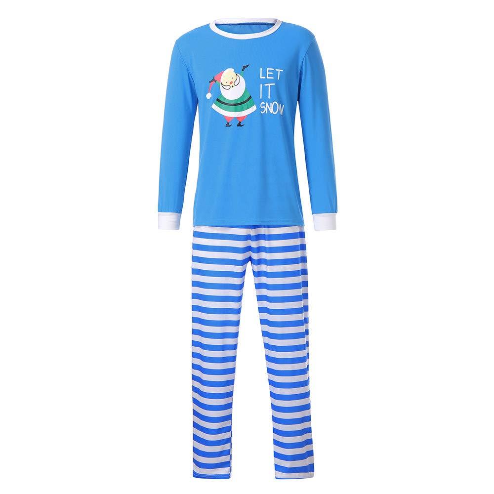 ae9f757f8f Amazon.com  FEDULK Matching Christmas Family Pajamas Santa Claus Print  Nightwear Homewear Kids Pjs Sets  Clothing