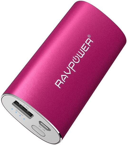 RAVPower iSmart - Batería externa para móvil (2.4 A, 5200 mAh) color rosa: Amazon.es: Electrónica