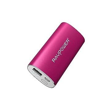 RAVPOWER Power Bank 6700mAh, Cargador portátil iSmart 2.4A de Salida & 2A de Entrada para iPhone 7, iPad, iPod, Tablet con múltiple Protecciones - ...