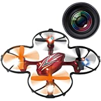 Haktoys HAK904C Mini 2.4GHz RC Quadcopter 6-Axis Gyro Drone with Camera - Colors May Vary