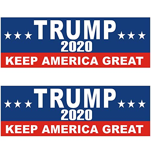 Shmbada 2 PCS US Donald Trump 2020 Keep America Great Patriotic Political Election Vinyl Stickers Waterproof Decal for Car, Bumper, Motorboat, Laptop, Helmet, 3 x 10 Inch, Set of 2