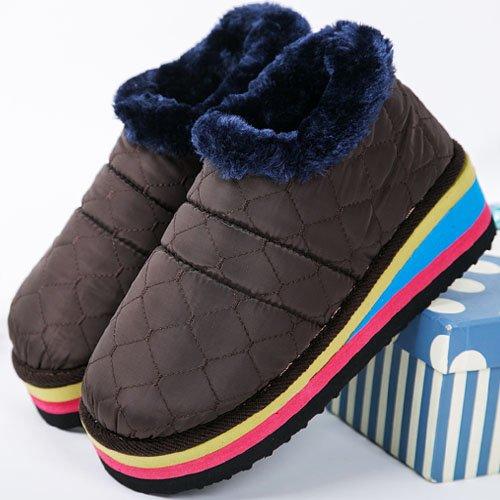 chaud coton et d'hiver du Home bureau en cotton Chaussures mois Package Les Chaussons Chaussures antidérapant Hand 40 Femmes Escarpin épais Hommes au wq8YZR