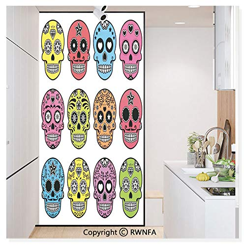 Window Glass Sticker Door Mural Ornate Colorful Traditional