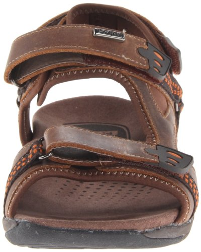 Propet Mens Anderson Sandal Brun / Orange