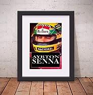 Quadro Decorativo Ayrton Senna Poster 46x56cm Paspatur & Vidro