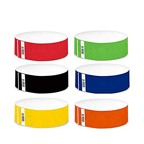 Fun Fan Line®- Pack x600 Pulseras tyvek de 19mm. Ideal para Fiestas y Eventos.