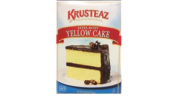 Amazon.com : Krusteaz Extra Moist YELLOW CAKE Mix 72oz. (4 ...