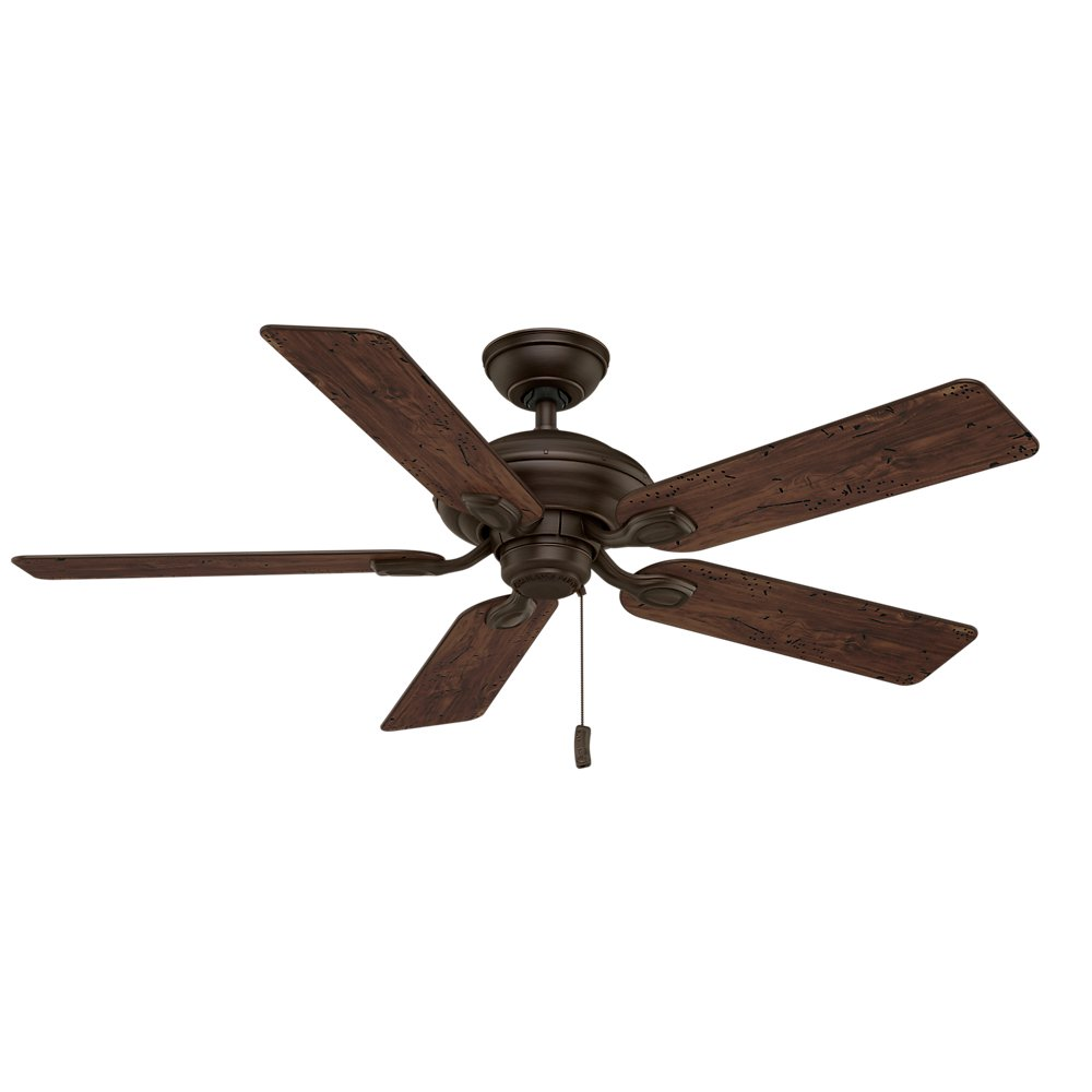 Casablanca 54035 Utopian 52 Inch 5 Blade ETL Rated Ceiling Fan Brushed Cocoa With Antique Halifax All Weather Blades