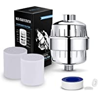 High Performance 15 Stage Universal Shower Filter Reduces Dry Itching on Skin with Vitamin C for Hard Water - Shower…