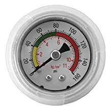 Express Water Quick Connect Water Pressure Gauge 160 PSI Parts Fittings Connection for Water Filters / Reverse Osmosis RO Systems