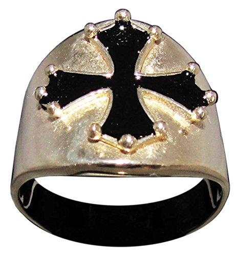 Cathar Cruz Anillo Catarismo símbolo en bronce (tamaño H a Z ...