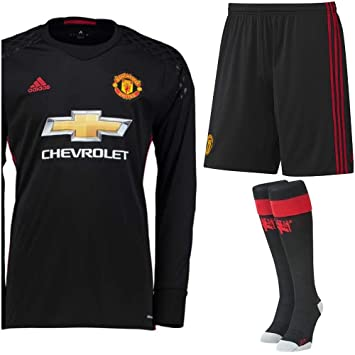486877823 Manchester United FC Football Kit Goalkeeper Long Sleeve Shirt And Shorts ( 15-16 Years