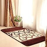 Carpet rug Flocking jacquard Bathroom kitchen hall mats non-slip matbedroom living room floor mats design pattern (Size : 4060CM, Style : D)