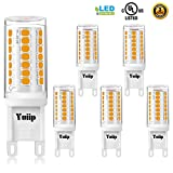 Yuiip G9 Led Bulb Dimmable Warm White 3000K G9 Light Bulbs AC 120V 3W Bi-Pin Base G9 Bulbs 35W Halogen Replacement for Chandelier, Wall Sconce 5 Pack