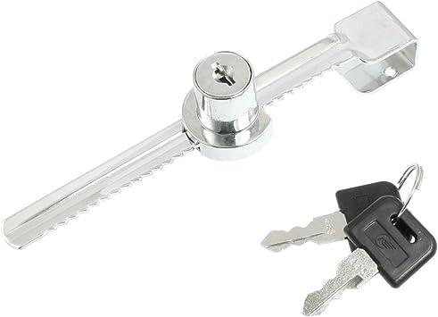Sourcingmap A12082600UX0015 - Cerradura para Vitrina de Vidrio Corrediza - Tipo Cierra, Metálico, Incluye 1 cerradura y 2 llaves: Amazon.es: Bricolaje y herramientas