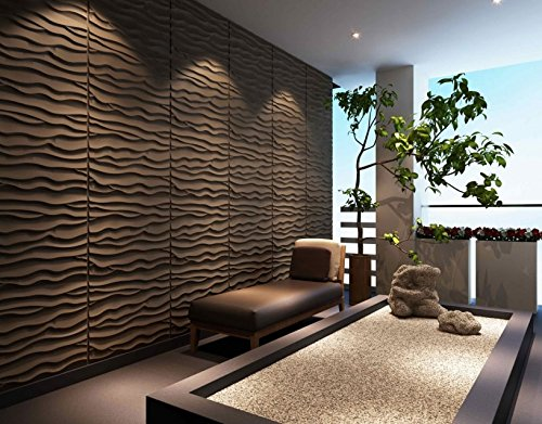 3D Textured Decorative Architecture Display Wall Panels,Eco Friendly Modern Wall Decor, Plant Fiber Paintable Interior Wall Decor,6Packs