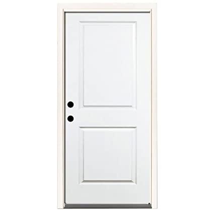 Steves Sons Premium 2 Panel Square Primed White Steel Entry Door