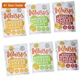 Cello Whisps Cheese Crisps, 6 Pack Assortment: Cheddar, Parmesan, Asiago and Pepper Jack