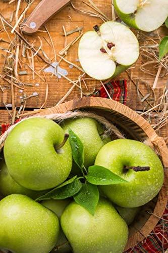 Carnet de Notes: Petit journal personnel de 121 pages blanches avec couverture « Pommes Vertes » (Mon journal personnel vierge) (French Edition)