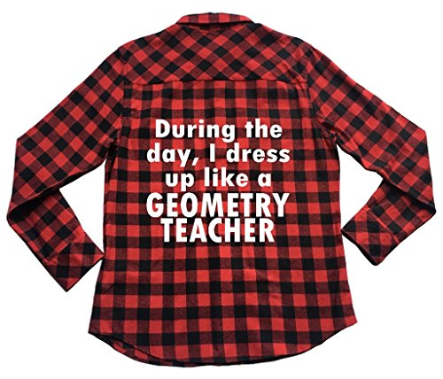 39s Apple - Apple Orange Gifts I Dress up Like Geometry Teacher - Unisex Plaid Flannel Shirt