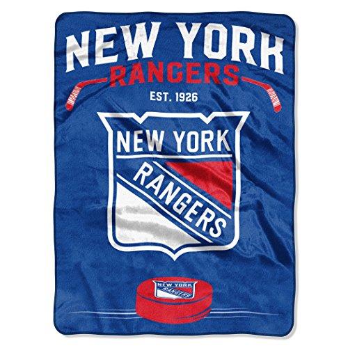 Ny Rangers Throw (The Northwest Company Officially Licensed NHL New York Rangers Inspired Plush Raschel Throw Blanket, 60
