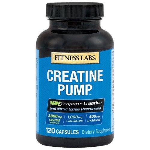 Fitness Labs Creatine Pump with L-Citrulline and L-Arginine (120 Capsules)