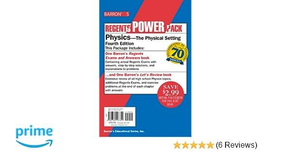 Physics power pack regents power packs miriam a lazar ms physics power pack regents power packs miriam a lazar ms 9780764197352 amazon books fandeluxe Choice Image