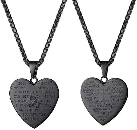 6a5bf81685 U7 Bible Verse Prayer Necklace with Free Chain 20